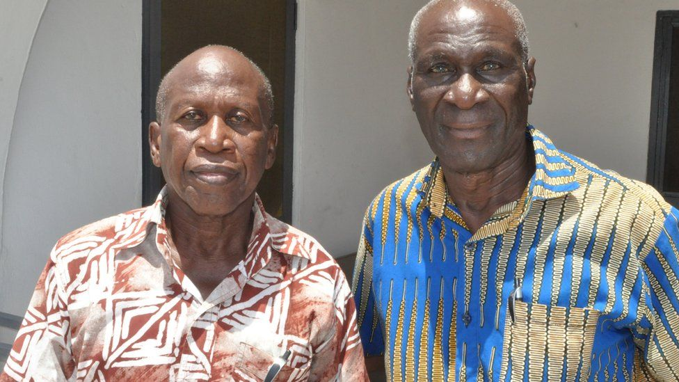 Former Ghana internationals Osei Kofi and Kofi Pare