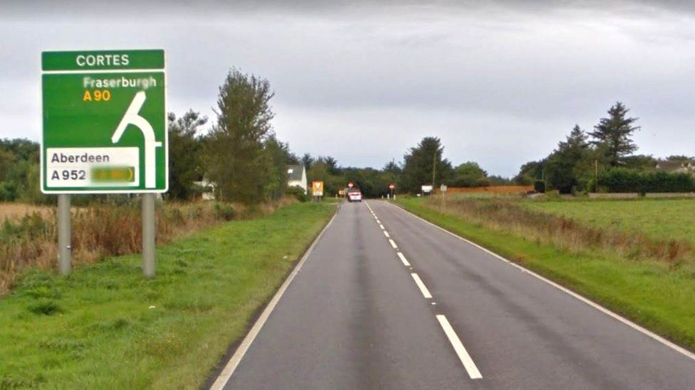 The A90 near the junction of the A952 at Cortes
