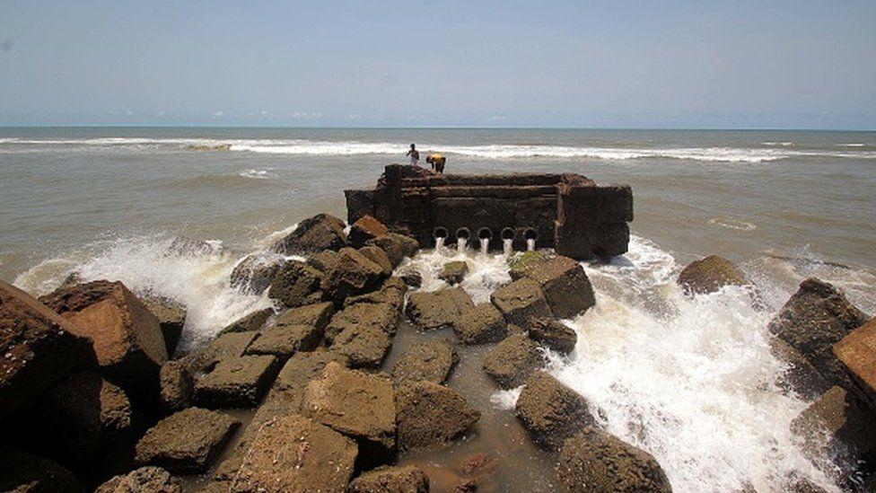 Cyclone Amphan - sea in Orissa