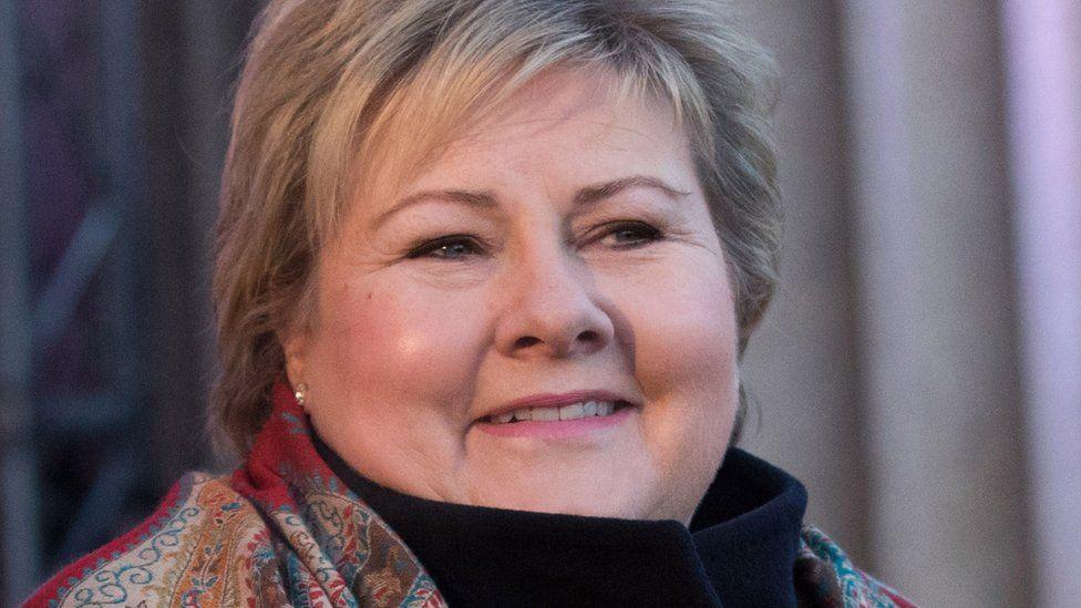 Norwegian premier Erna Solberg