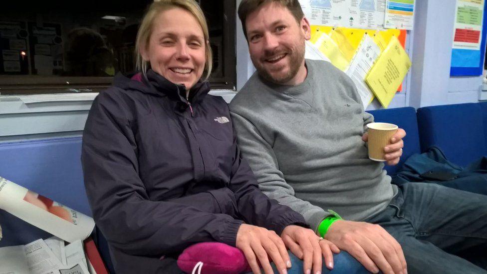 Newlyweds Sara and John Lund