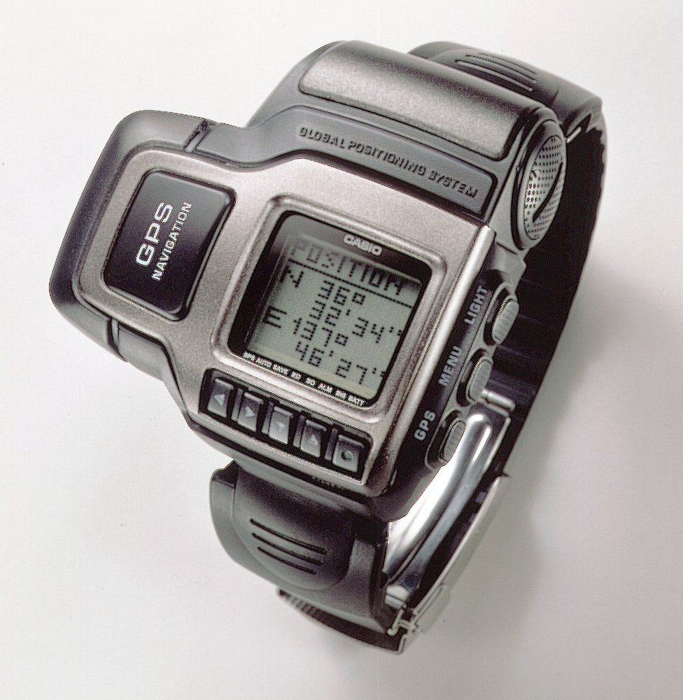 The first GPS watch, produced by Casio in 1999