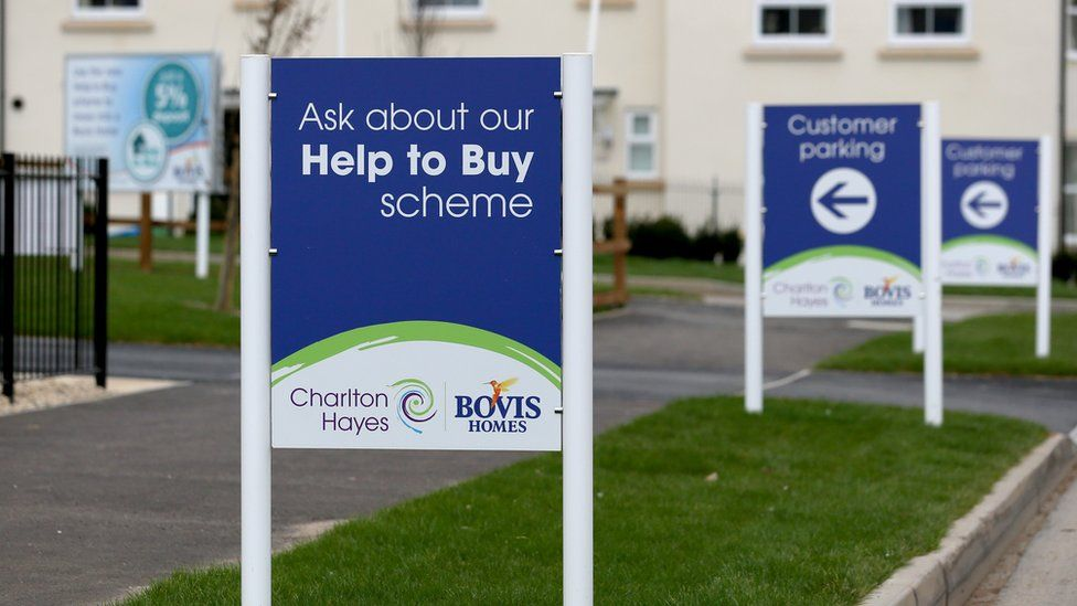 Help to Buy sign on a housing development