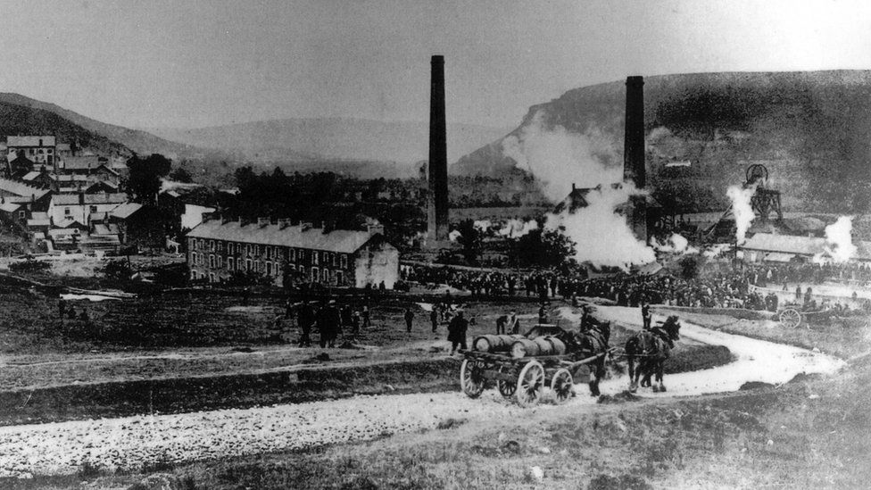 Aftermath of the Albion Colliery disaster 1894