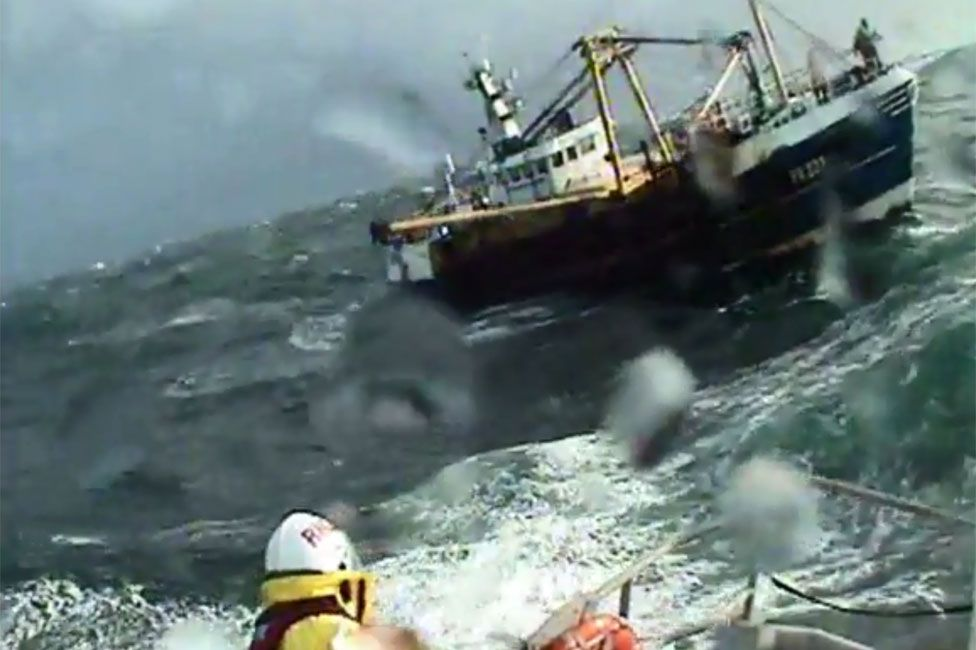 Peterhead lifeboat on a shout