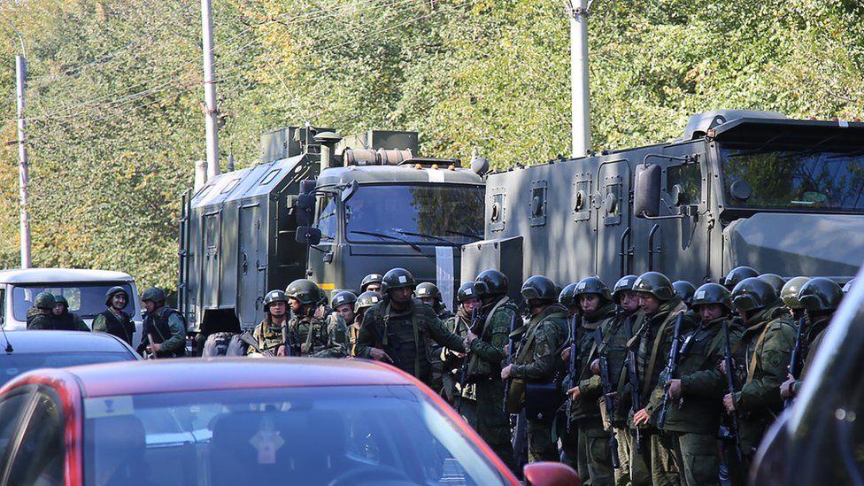 Scene of Crimea school shooting, 17 October 2018