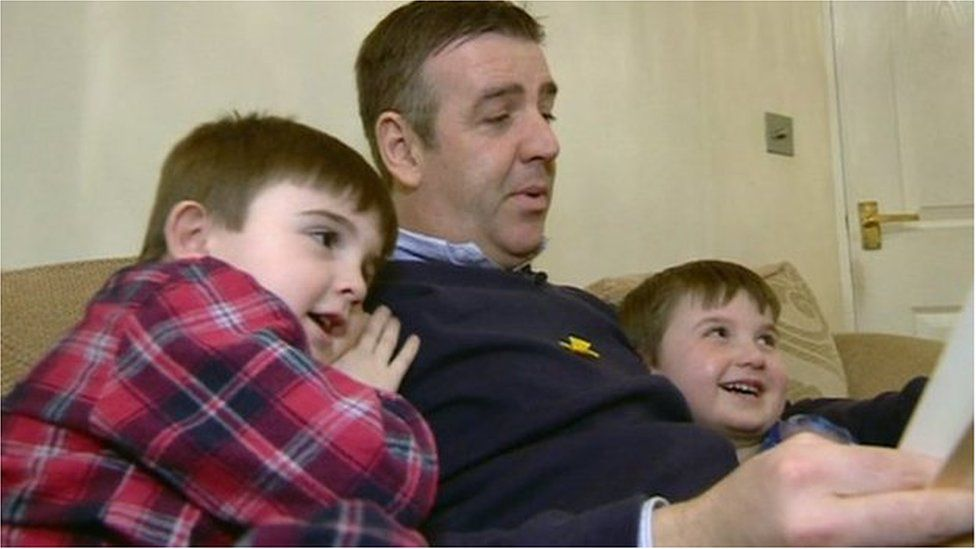 Irfon Williams with his two young sons