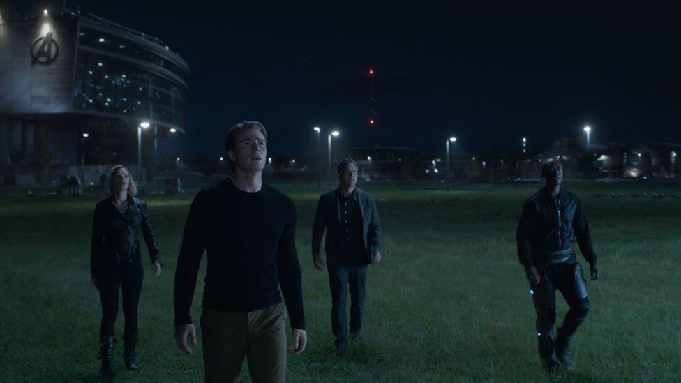 Scarlett Johansson, Chris Evans, Mark Ruffalo and Don Cheadle in Avengers: Endgame