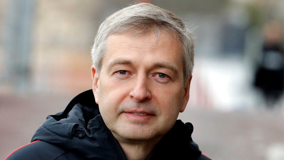 Dmitry Rybolovlev is pictured alone, dressed in sporting apparel during a Monaco football training session