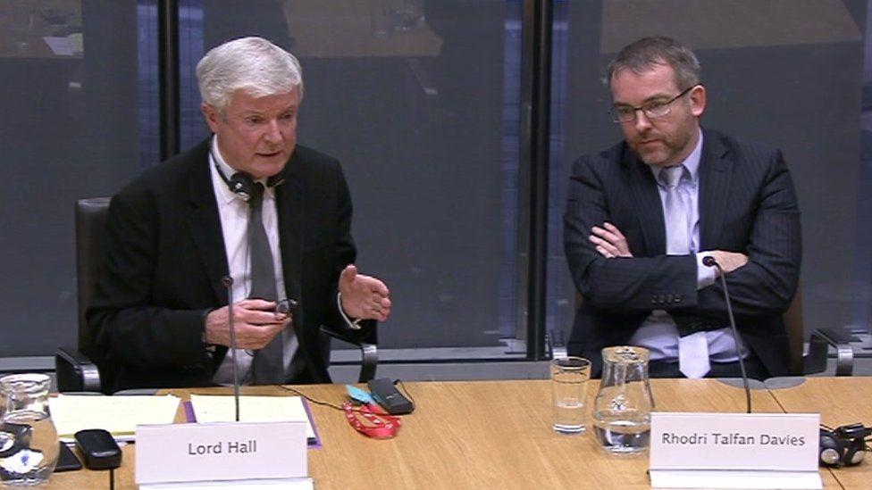Lord Hall and Rhodri Talfan Davies