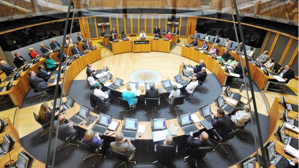 The assembly debating chamber