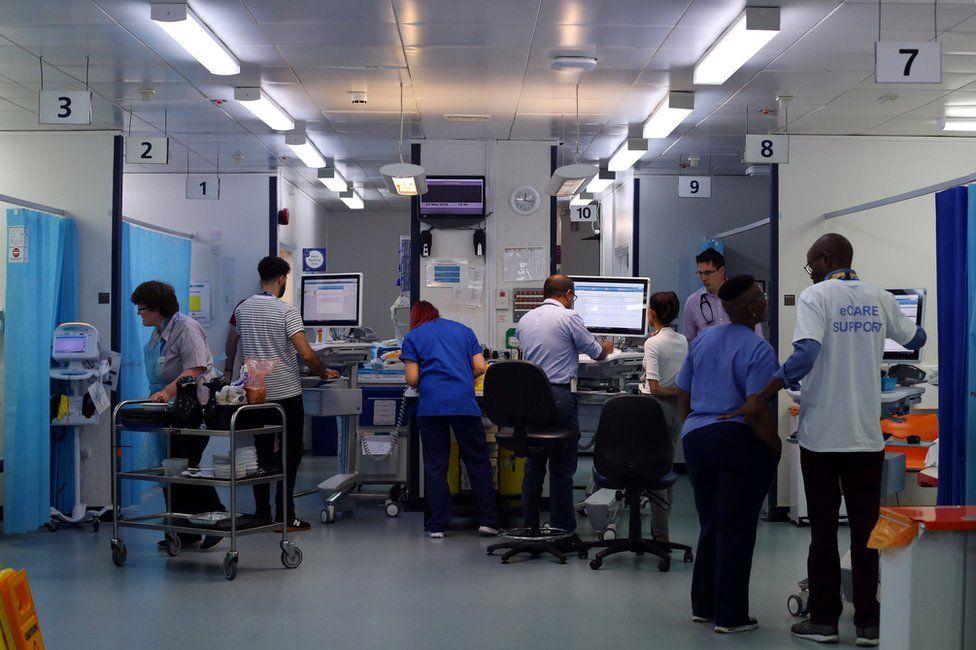 NHS workers at Milton Keynes University Hospital