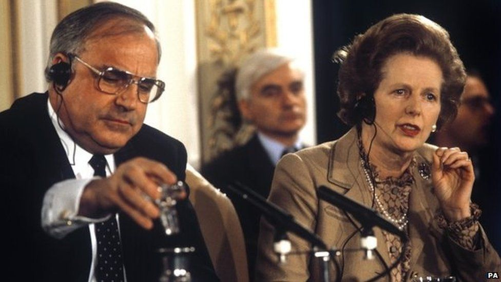 Helmut Kohl & Margaret Thatcher in 1983
