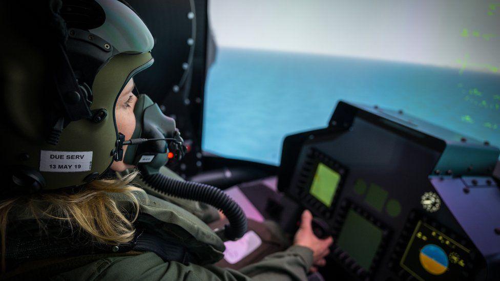The simulator's virtual cockpit