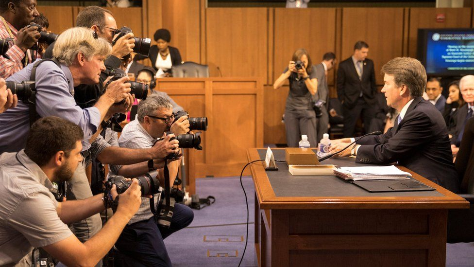 Supreme Court nominee Brett Kavanaugh prepares to testify during the third day of his confirmation hearing before the Senate Judiciary Committee