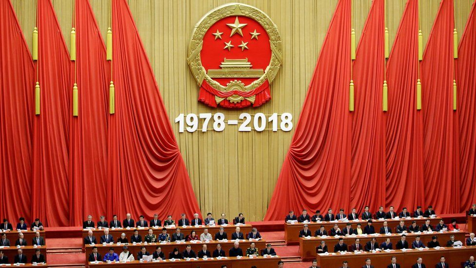 The audience of Xi Jinping's speech in the Great Hall of the People