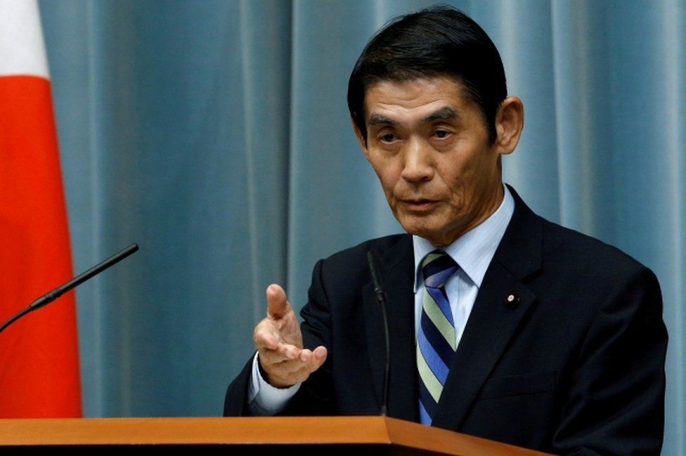 Japan's State Minister in charge of Reconstruction Masahiro Imamura speaks at a news conference at Prime Minister Shinzo Abe's official residence on 3 August, 2016.