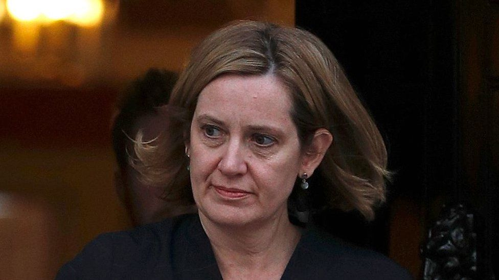 Amber Rudd leaves 10 Downing Street
