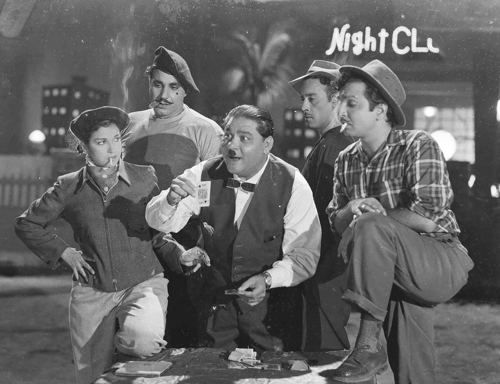 A still from the 1958 Bollywood drama Night Club