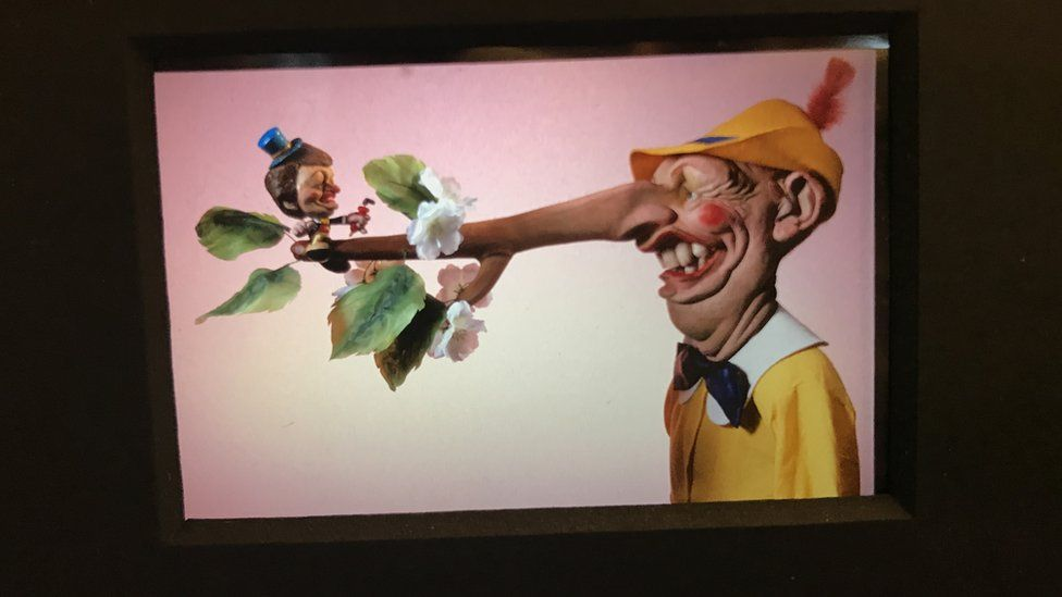 Neil Kinnock's Spitting Image puppet with a long nose