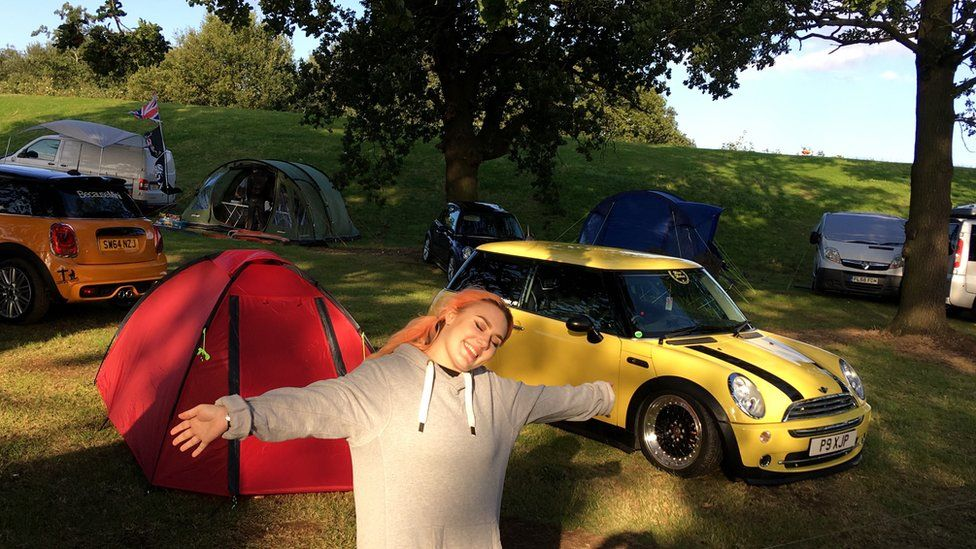 Mini cars and tents