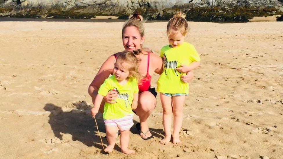 Kirstie Bridgwater and her children