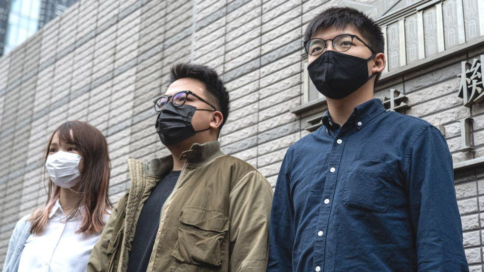 Agnes Chow, Ivan Lam And Joshua Wong