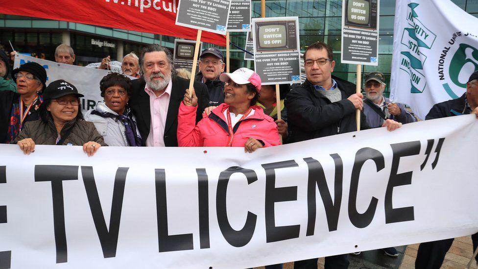 Licence Fee demo Salford