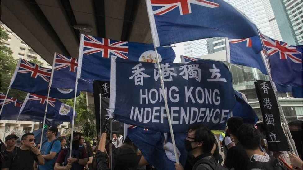 Pro-independence protest in Hong Kong (1 July 2017)