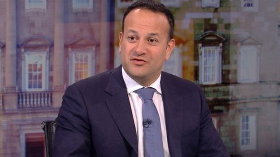 Leo Varadkar said the Irish government was not contemplating a hard border