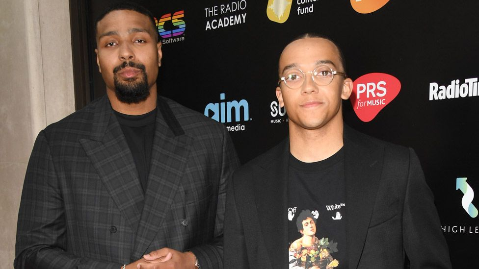 """Jordan Banjo and Perri Kiely hosted the event and won the """"moment of the year"""" award"""