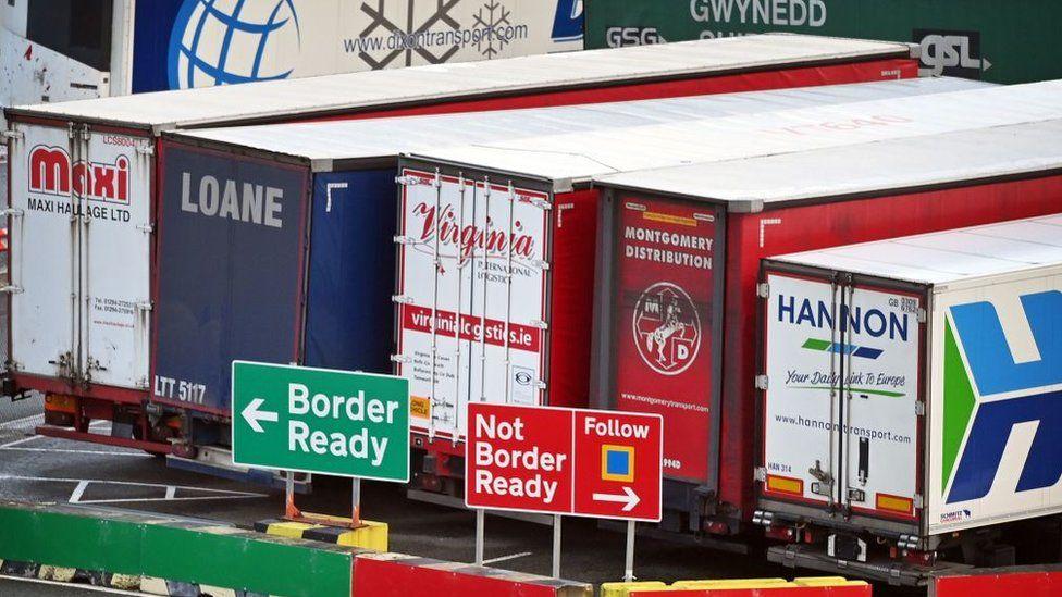 Lorries at Holyhead