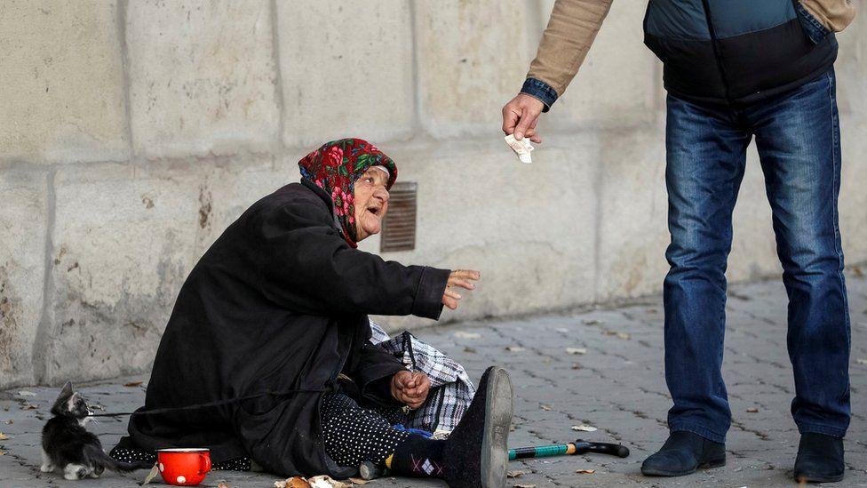 Beggar in Chisinau, 29 Oct 16
