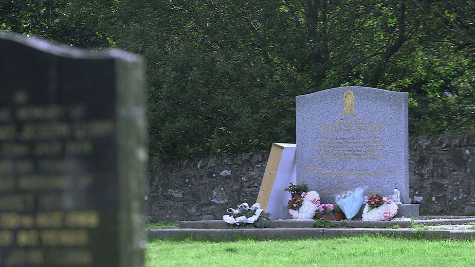 Memorial stone at St Mary's Cemetery, Lanark.