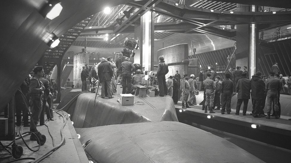 The set of The Spy Who Loved Me