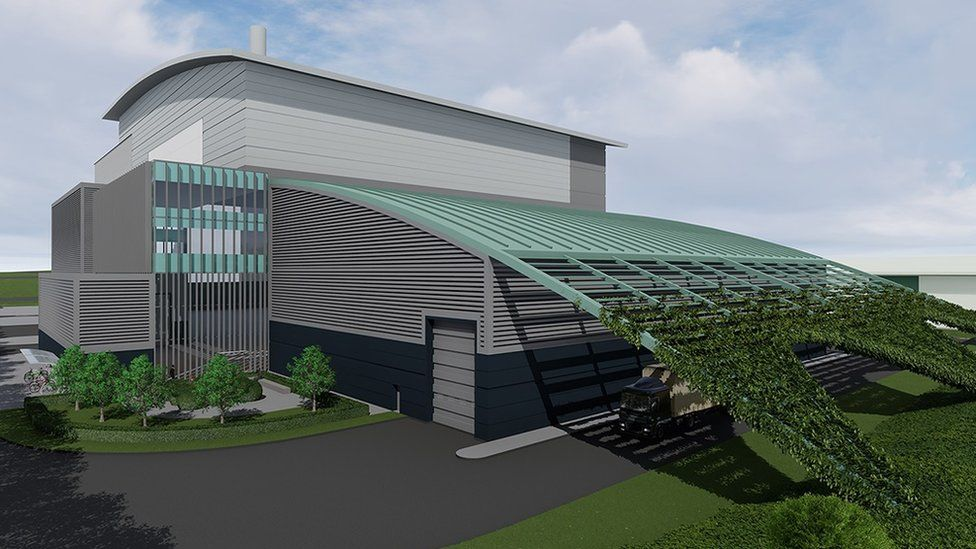 The planned new incinerator in Waterbeach