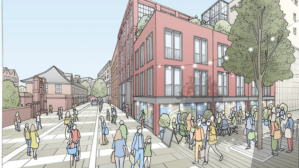 An artist's impression of the College Street area