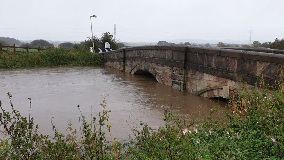 High water levels on River Douglas