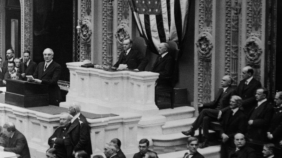 Warren Harding in 1922