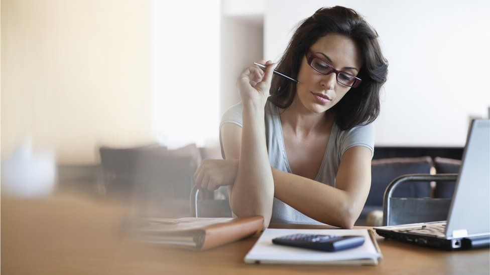 Woman with finances