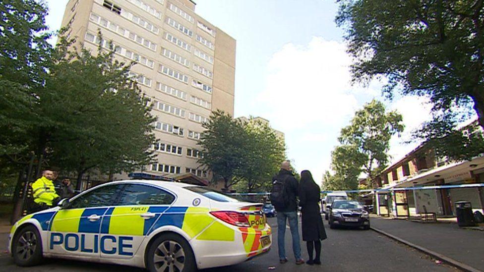 Police car in Great Hampton Row