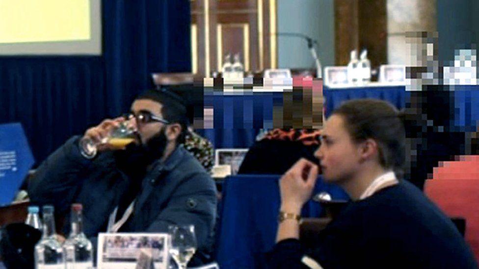 Saskia Jones sitting alongside Usman Khan