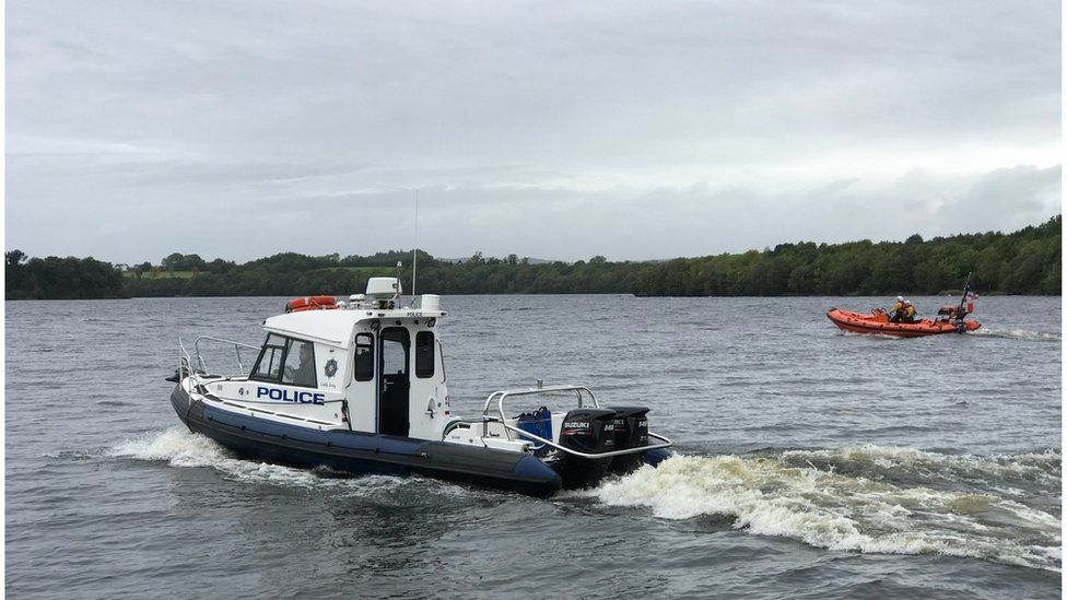 PSNI and the RNLI take part in the search