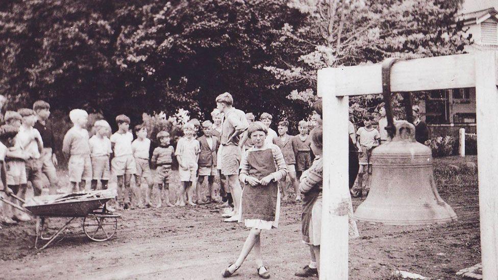 Children gather at the Fairbridge school at Molong