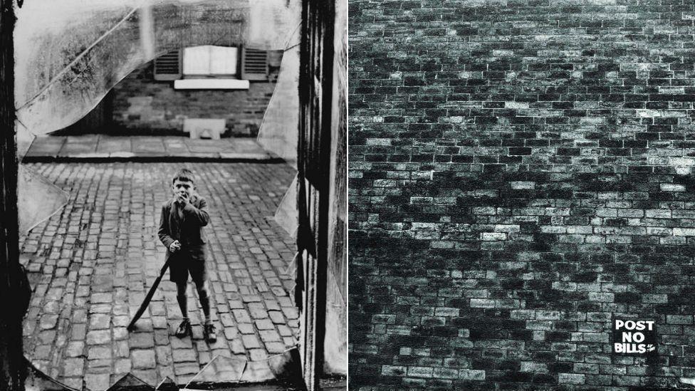 Boy Broken Window, Leeds, 1950s and Post No Bills, Leeds, 1950s, images courtesy of Bianca Wallis-Salmon