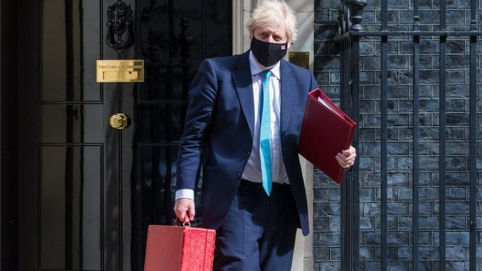 Boris Johnson departs 10 Downing Street ahead of the State Opening of Parliament