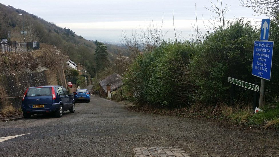 Old Wyche Road in Great Malvern