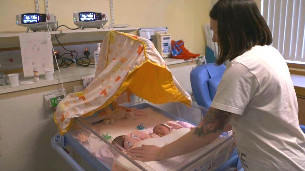 Zoe Stewart with twins