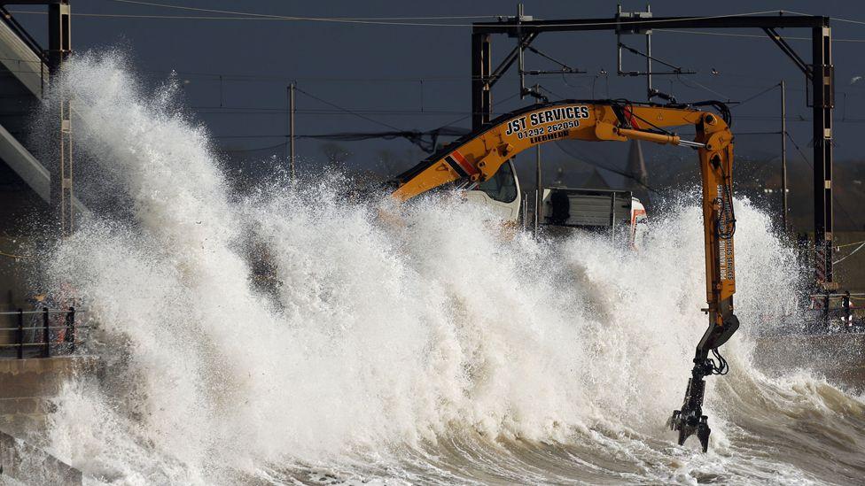 Waves at Saltcoats in Ayrshire