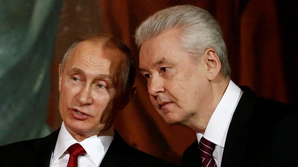President Putin (L) and Mayor Sobyanin, 15 Apr 17